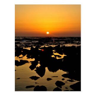 Sonnenuntergang über Seefelsen - Landcape Postkarte