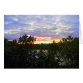 Sonnenuntergang über Stilwell Teich Karte
