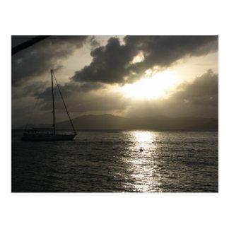 Sonnenuntergang über Tortola Postkarte