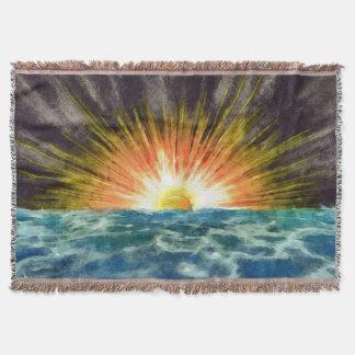 Sonnenuntergang über Wasser Decke