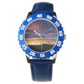Sonnenuntergang-Uhr Armbanduhr