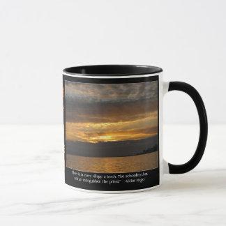 Sonnenuntergang-und Hugo-Zitat Tasse