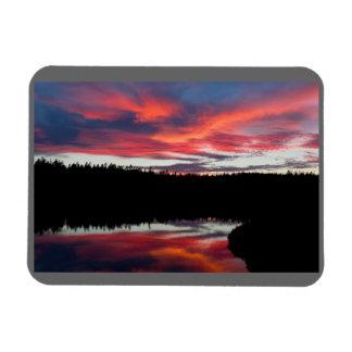 Sonnenuntergang-und Magnet