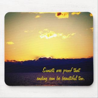 Sonnenuntergang und motivierend Zitat Mousepad