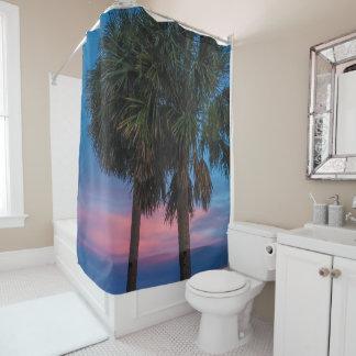 Sonnenuntergang-und Palme-Duschvorhang Duschvorhang
