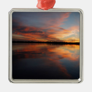 Sonnenuntergang und Wolken Silbernes Ornament