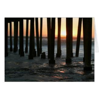 Sonnenuntergang unter dem Pier Karte