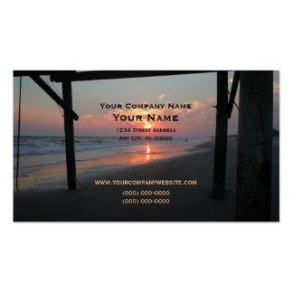 Sonnenuntergang unter dem Pier Visitenkarten