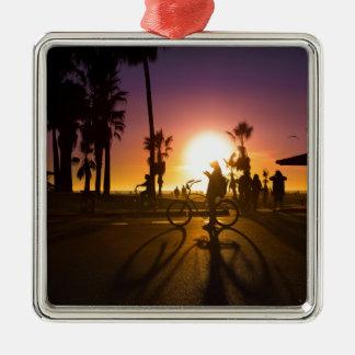 Sonnenuntergang Venedig Silbernes Ornament