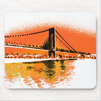 Sonnenuntergang verengt Brücke mousepad