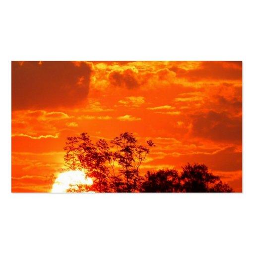 Sonnenuntergang Visitenkarten Vorlagen