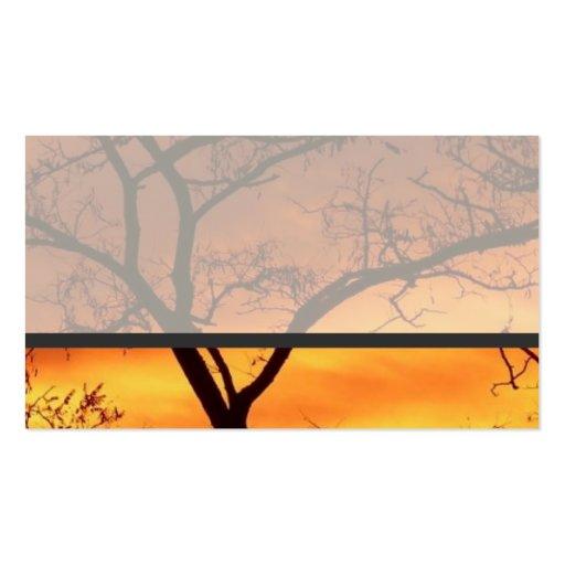 Sonnenuntergang Visitenkarten Vorlage