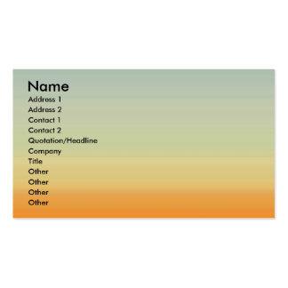 Sonnenuntergang-Visitenkarte