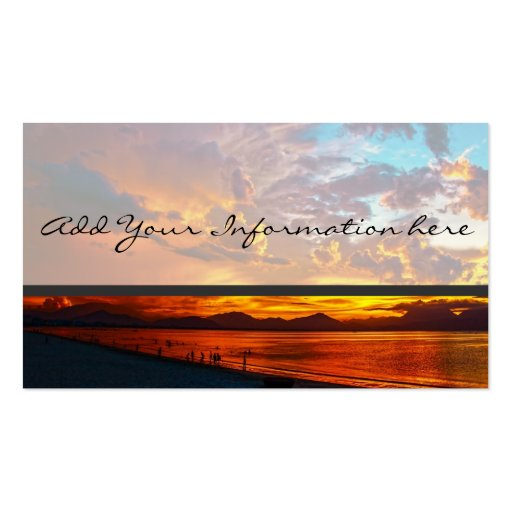 Sonnenuntergang Visitenkartenvorlagen