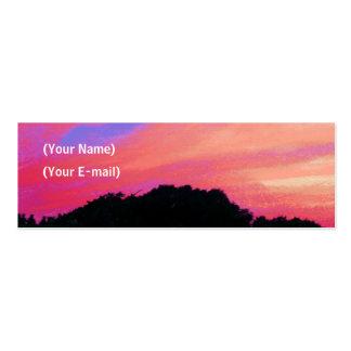 Sonnenuntergang-Visitenkarte Jumbo-Visitenkarten