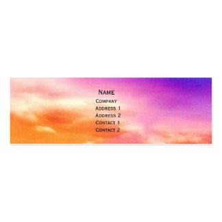 Sonnenuntergang-Visitenkarte Mini-Visitenkarten
