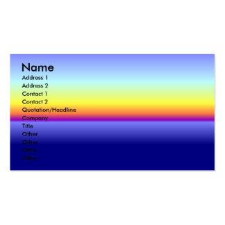Sonnenuntergang-Visitenkarte Visitenkarten