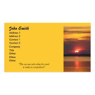Sonnenuntergang-Visitenkarten