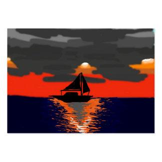 Sonnenuntergang Visitenkartenvorlage