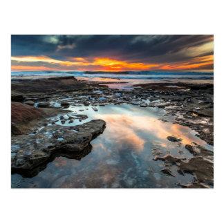 Sonnenuntergang von den Gezeitenpools Postkarte