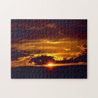 Sonnenuntergang von Karlsbad-Höhlen Puzzle