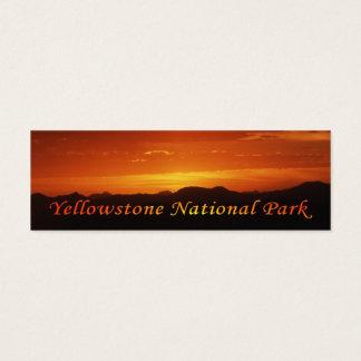 Sonnenuntergang von Mt. Washburn Mini-Visitenkarten
