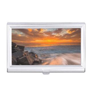Sonnenuntergang von Tamarach Strand Visitenkarten Dose