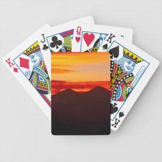 Sonnenuntergang vorbei sehnt sich Höchstcolorado Bicycle Spielkarten
