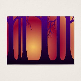 Sonnenuntergang-WaldVisitenkarte Jumbo-Visitenkarten