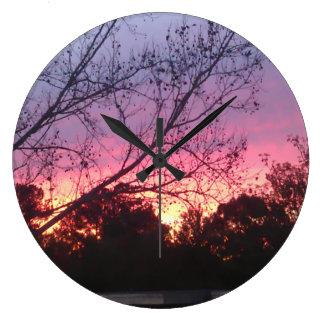 Sonnenuntergang-Wanduhr Große Wanduhr