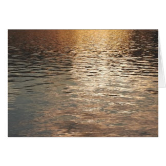 Sonnenuntergang-Wasser Karte