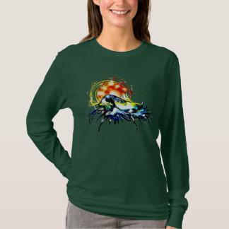 Sonnenuntergang-Welle T-Shirt