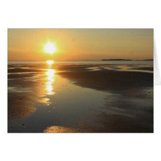 Sonnenuntergang Wellfleet Bucht-Naturschutzgebiet Karte