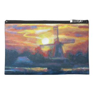 Sonnenuntergang-Windmühlen-Malerei