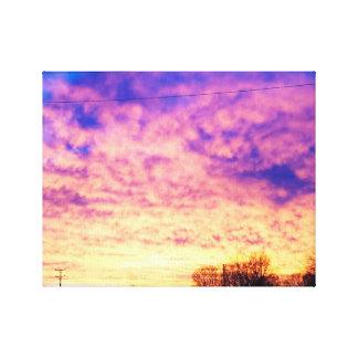 Sonnenuntergang-Winter Leinwanddrucke