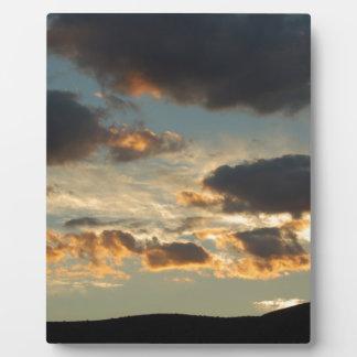 Sonnenuntergang-Wolken Fotoplatte