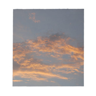 Sonnenuntergang-Wolken Notizblock