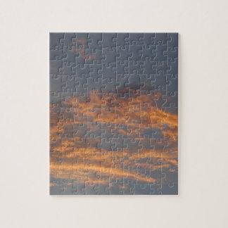 Sonnenuntergang-Wolken Puzzle
