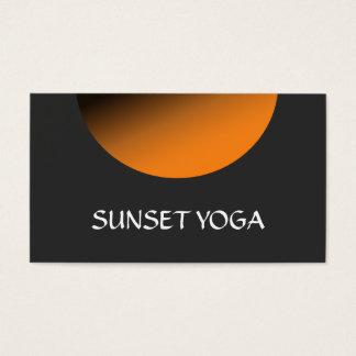 Sonnenuntergang-Yoga-und Meditations-Lehrer Visitenkarten