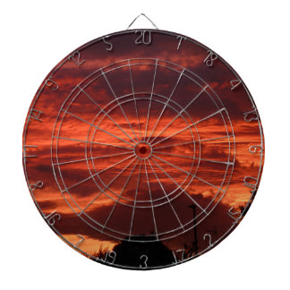 Sonnenuntergang-Yorkshire-Landschaft Dartscheibe