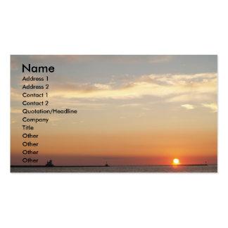 Sonnenuntergänge, Segelboote und Leuchtturm Visitenkarten
