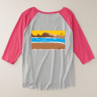 Sonnenuntergangfluß Große Größe Raglan T-Shirt
