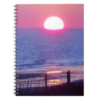 Sonnenuntergangkopie Notizblock