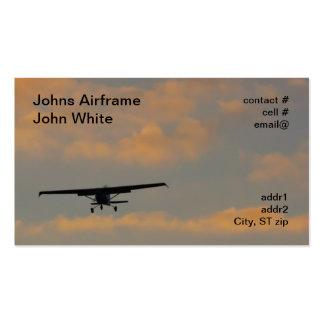 Sonnenunterganglandung Visitenkarten Vorlage
