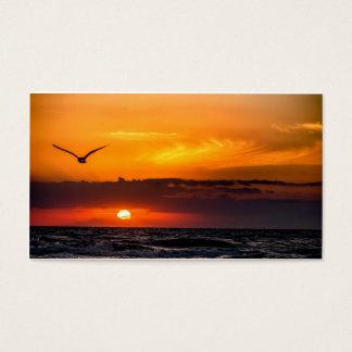 Sonnenuntergangstrand-Visitenkarte Visitenkarte
