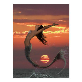 Sonnenuntergangtanz Postkarte