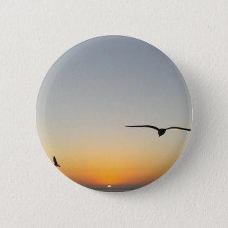 Sonnenuntergangvögel Runder Button 5,1 Cm