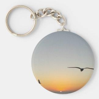 Sonnenuntergangvögel Schlüsselanhänger