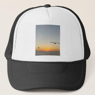 Sonnenuntergangvögel Truckerkappe