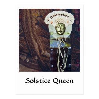 Sonnenwende-Königin - Collage Postkarte